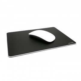 Aluminium Mouse Pad Gaming Mouse Pad Non-slip Rubber Base and Micro Sand Blasting Aluminium Surface for Fast and Accurate Control Compatible Any Optical Mice and Any Dpi Speed - Black