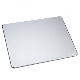 Aluminium Mouse Pad Gaming Mouse Pad Non-slip Rubber Base and Micro Sand Blasting Aluminium Surface for Fast and Accurate Control Compatible Any Optical Mice and Any Dpi Speed - JOLGOO (Silver)