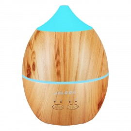 300ml Aromatherapy Essential Oil Diffuser Cool Mist Humidifier with 7 Color LED Lights Changing and Waterless Auto Shut-off for Office Home Bedroom Baby Room Study Yoga SPA, Yellow wood grain