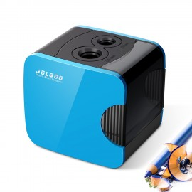 Electric Pencil Sharpener,Best USB or Battery Operated Heavy Duty for No.2 and Colored Pencil,Double Hole,Safety Design,Fast to Sharpened,Portable,For School,Home,Office,Studio - JOLGOO (Blue)
